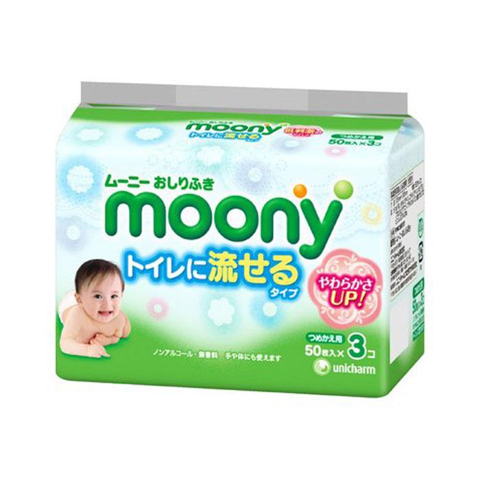 MOONY Влажные салфетки для детей 50×3шт