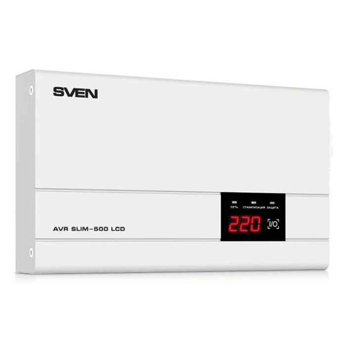 Стабилизатор SVEN AVR SLIM 500  LCD