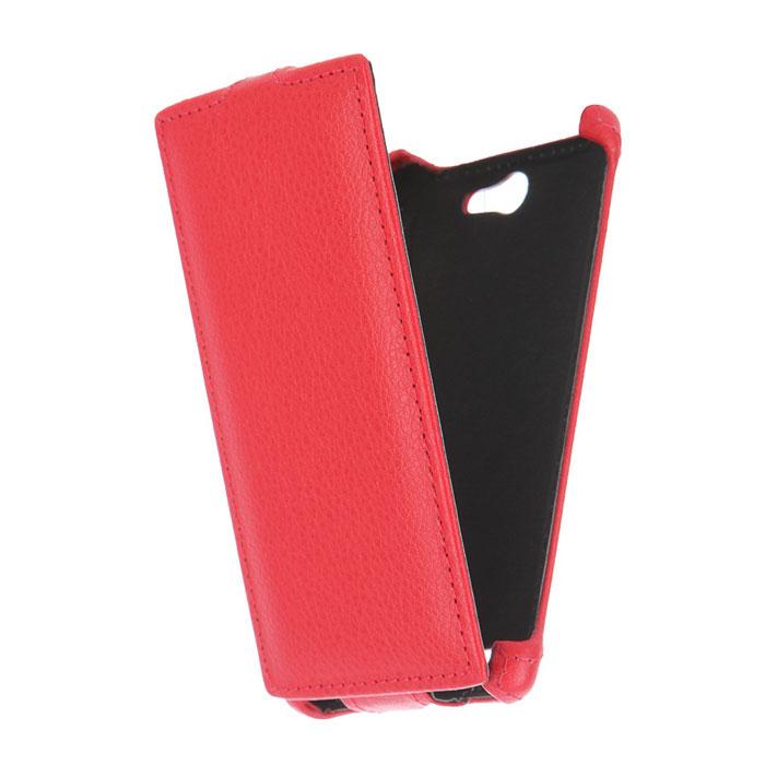 Чехол Gecko Flip для Philips Xenium S309, красный