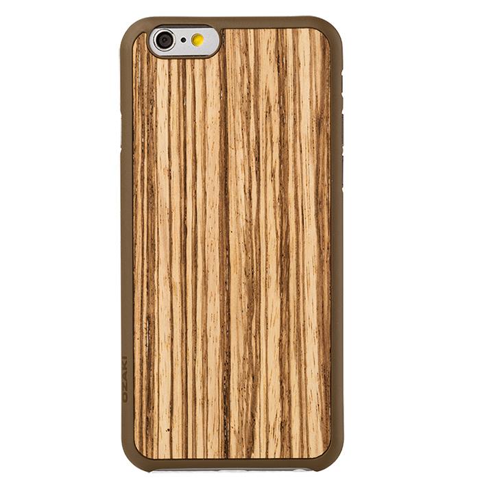 Чехол Ozaki O!coat 0.3 + Wood для iPhone 6 / iPhone 6s, коричневый с бежевым