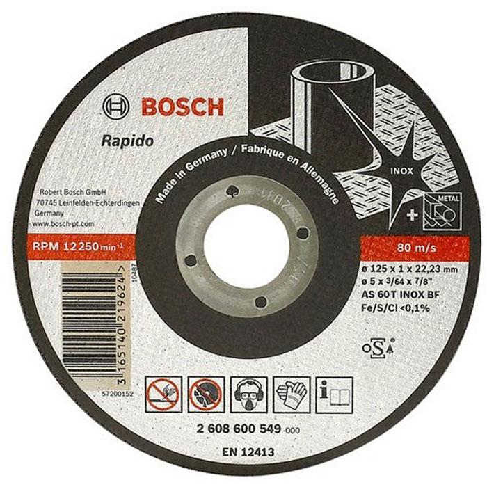 Отрезной круг по нержавейке Bosch Expert 125х1мм прямой 2608600549