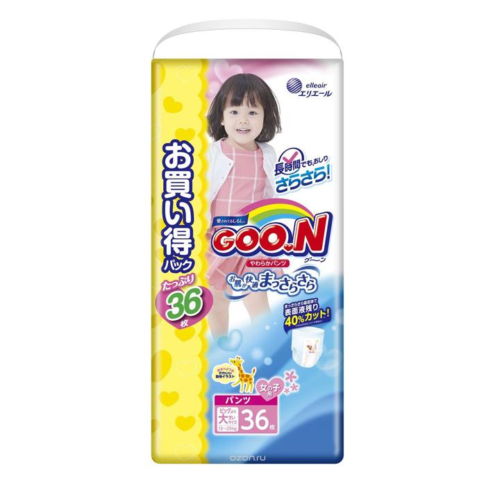 Подгузники Goon Трусики (13-25кг) 28шт для девочек