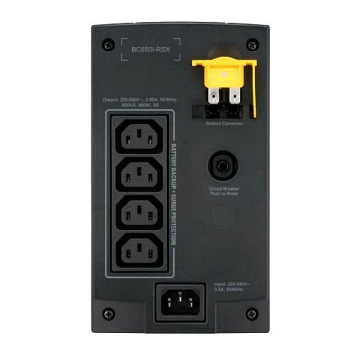ИБП APC by Schneider Electric Back-UPS BC650I-RSX 650VA/360W IEC