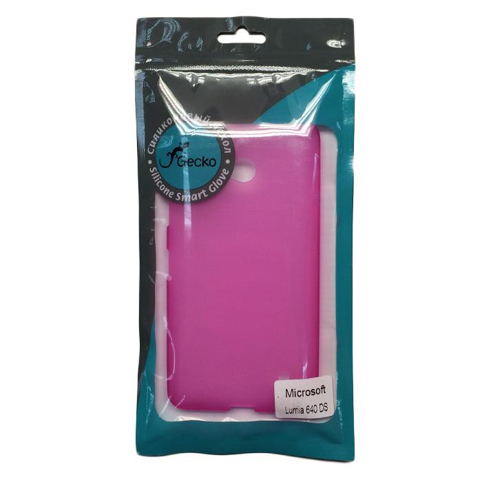 Чехол Gecko Силиконовая накладка для Microsoft Lumia 640 LTE Dual\Lumia 640 Dual, непрозрачно-матовая, розовая