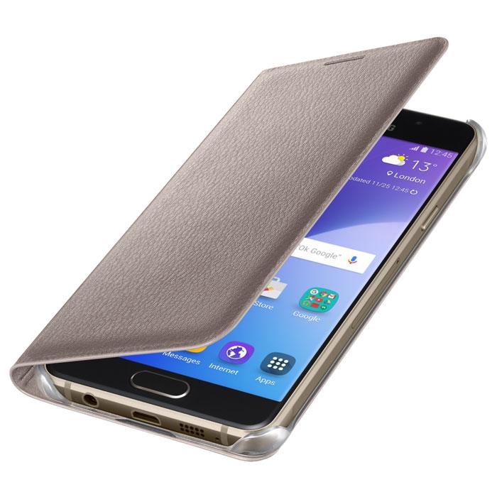Чехол Samsung Flip Cover для Galaxy A5 (2016) SM-A510F, золотистый