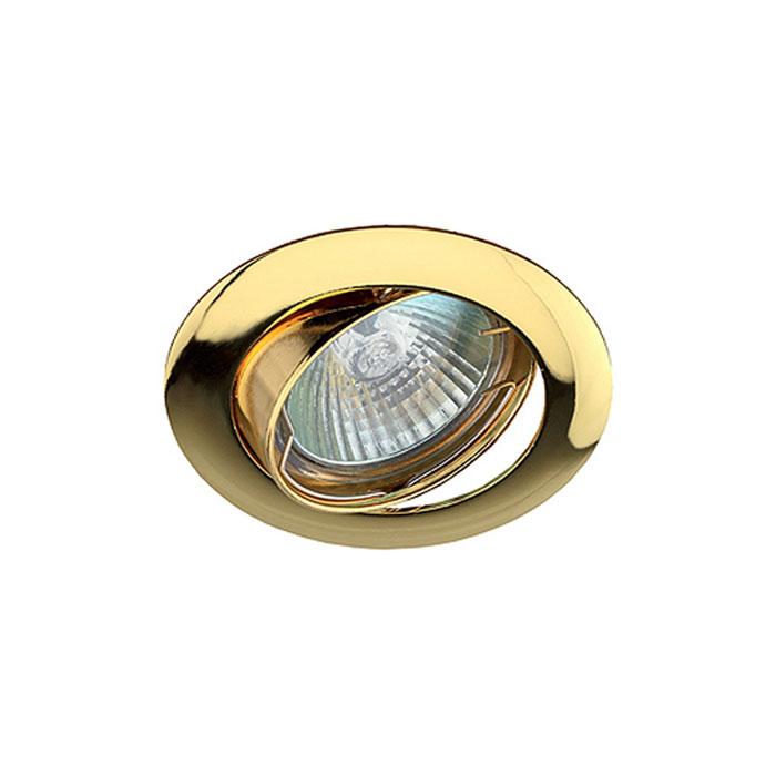 Светильник ЭРА C0043657 KL1A GD MR16 12V/220V 50W золото, поворотный