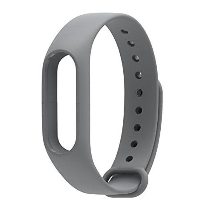 Ремешок для фитнес-браслета Xiaomi Mi Band 2 Silicon grey