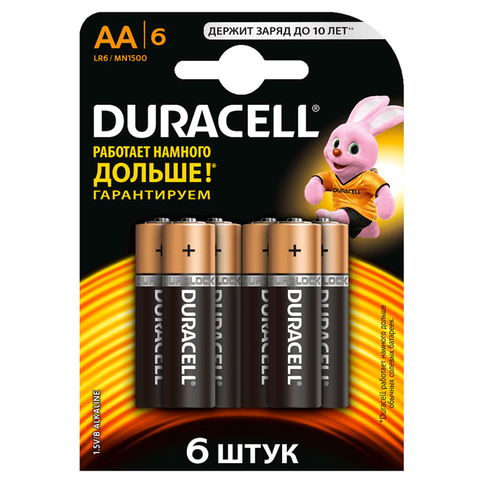 Батарейки Duracell LR6-6BL Basic AA 6шт.