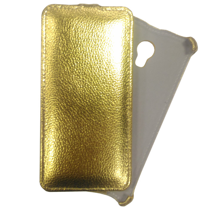 Чехол Gecko Flip для Meizu M5, золотистый