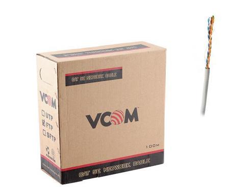 Кабель витая пара Vcom FTP кат. 5e 4 пары 0.50мм одножильный (100м.)