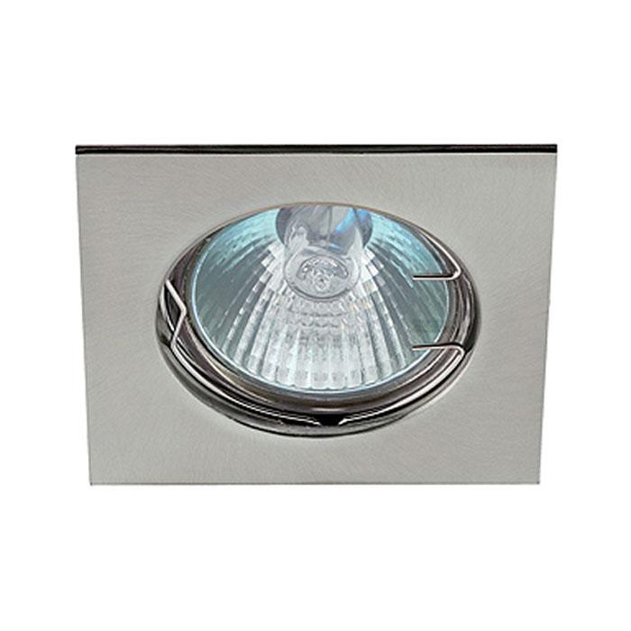 Светильник ЭРА C0043659 KL2 SN MR16 12V/220V 50W сатин никель, квадрат