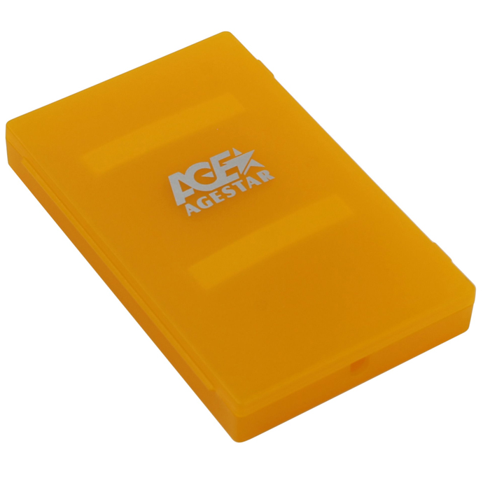 Корпус для HDD 2.5″ SATA-USB2.0 AgeStar SUBCP1 Orange