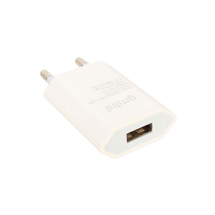Зарядное устройство сетевое Gmini GM-WC-008-1USB, 1xUSB, 1A, белое