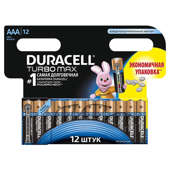 Батарейки Duracell LR03-12BL Turbo Max AAA 12шт