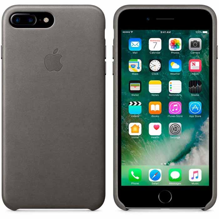 Чехол для Apple iPhone 7 Plus Leather Case Storm Gray MMYE2ZM/A