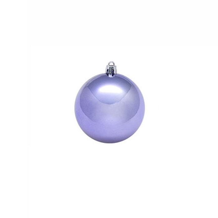 Нов игрушка шар пластик блест.d=7см  6шт в пакете цвет сирень