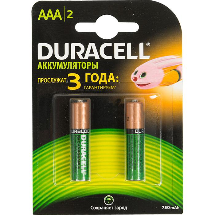 Аккумулятор Duracell HR03-2BL 750mAh AAA 2 шт