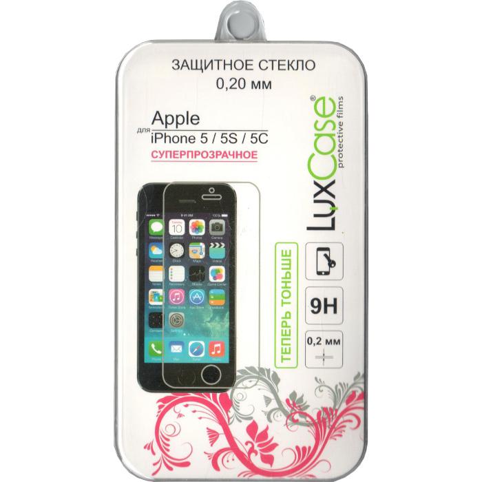 Защитное стекло для iPhone 5/Phone 5c/iPhone 5s 0,2 мм LuxCase