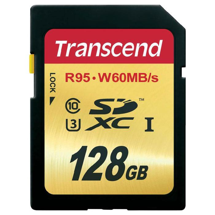 Флеш-карта SDXC 128Гб Transcend , Class 10 UHS-I ( TS128GSDU3 )