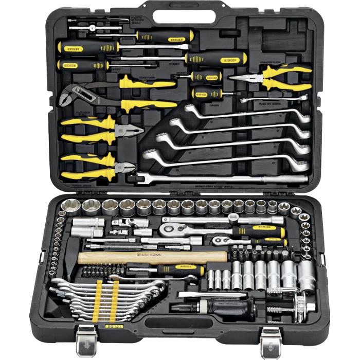 Универсальный набор инструментов 131 предмет Berger BG131-1214