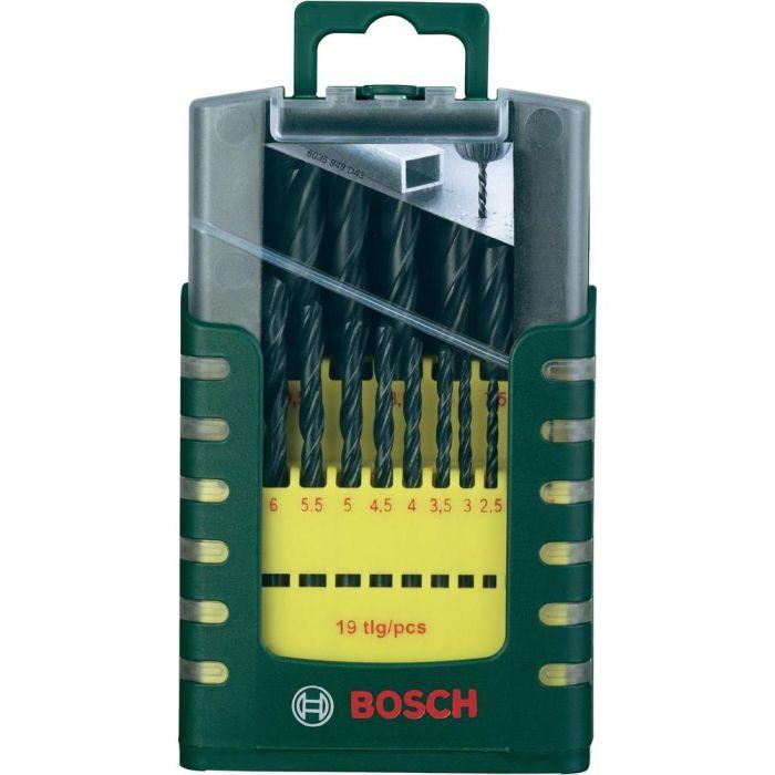 Набор сверл по металлу 19 предметов Bosch DIY HSS-R 2607017151