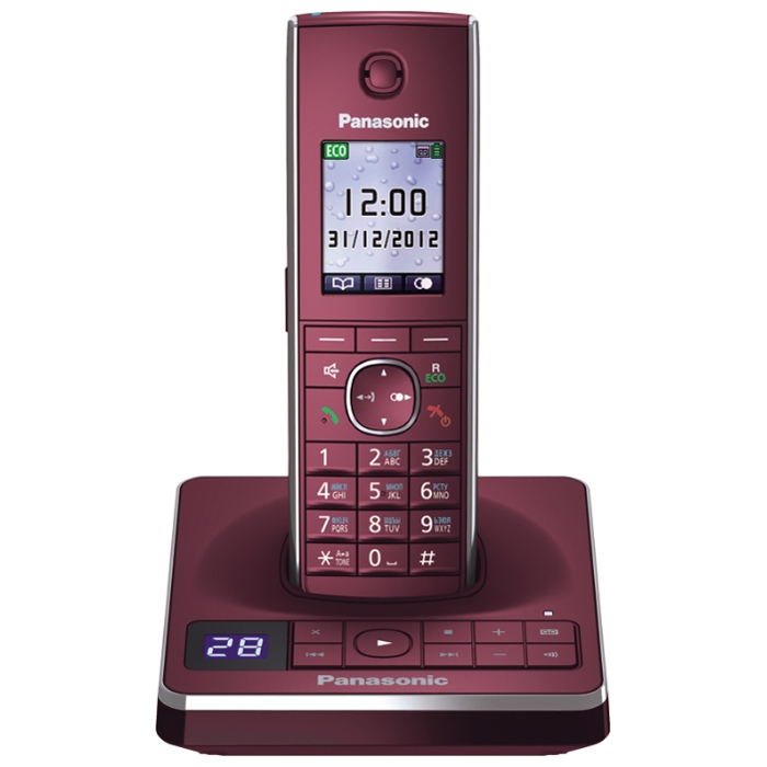 Телефон Dect Panasonic KX-TG8561RUR red