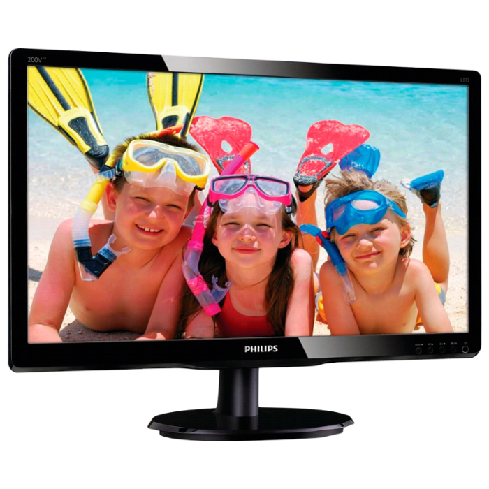 Монитор ЖК Philips 200V4QSBR 19.5″ black VGA DVI