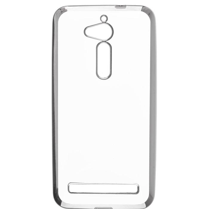 Чехол skinBOX 4People silicone chrome border case для Asus ZenFone Go ZB500KG темно-серебристый