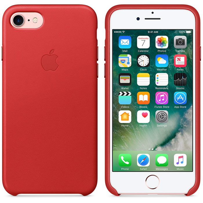 Чехол для Apple iPhone 7 Leather Case Red MMY62ZM/A