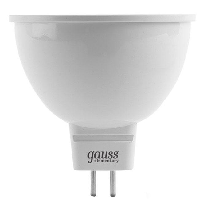 Светодиодная лампа Gauss Elementary MR16 GU5.3 5.5W 220V желтый свет
