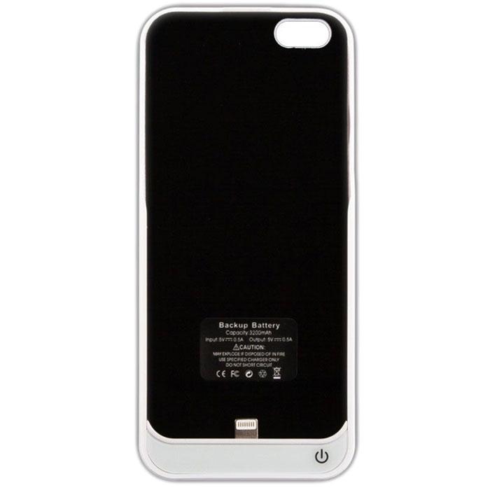 Чехол со встроенной батареей 3200mAh для iPhone 5 / iPhone 5S Liberty Power Case белый