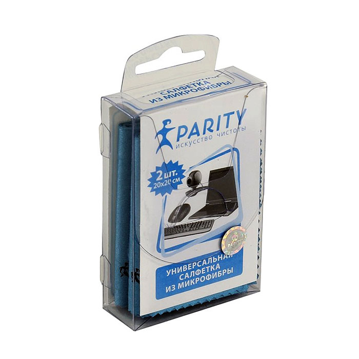 Салфетки универсальные Parity из микрофибры, 2 шт (20*20см) 24175
