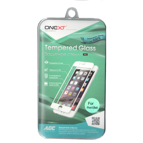 Защитное стекло Onext для iPhone 6 / iPhone 6s, черная рамка