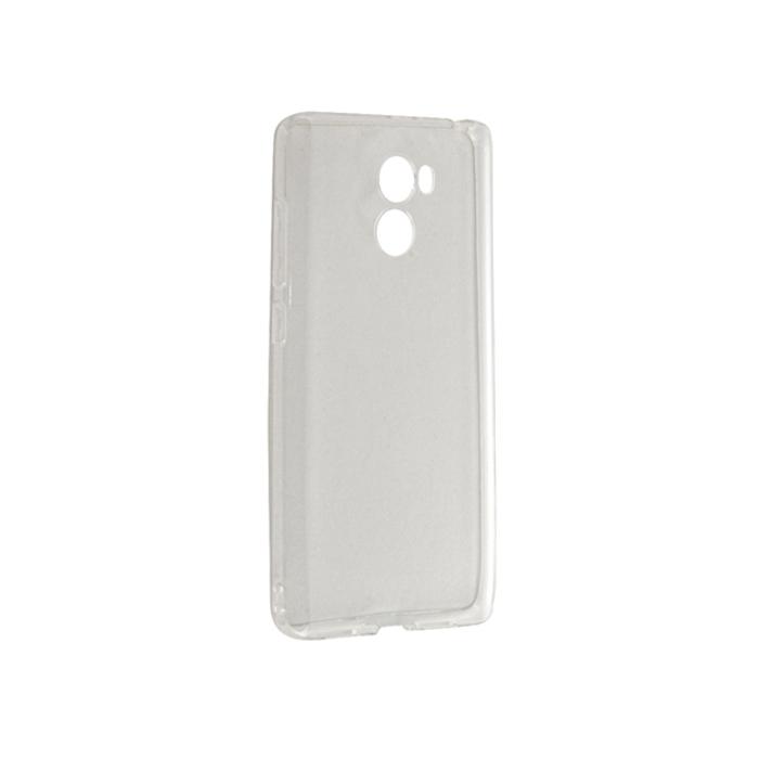 Чехол Gecko для Xiaomi Redmi 4, Силиконовая накладка, прозрачно-глянцевая, белая