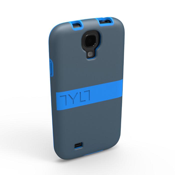 Чехол для Samsung i9500/i9505 Galaxy S IV TYLT Band GS4DPBNDBL-T синий/серый
