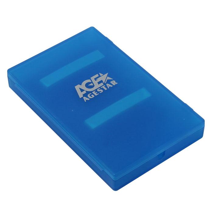 Корпус для HDD 2.5″ SATA-USB2.0 AgeStar SUBCP1 Blue