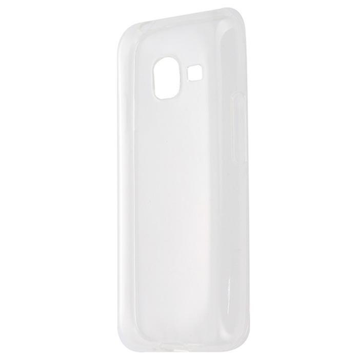 Чехол Gecko Силиконовая накладка для Samsung Galaxy J1 mini (2016) SM-J105H, прозрачно-глянцевая, белая