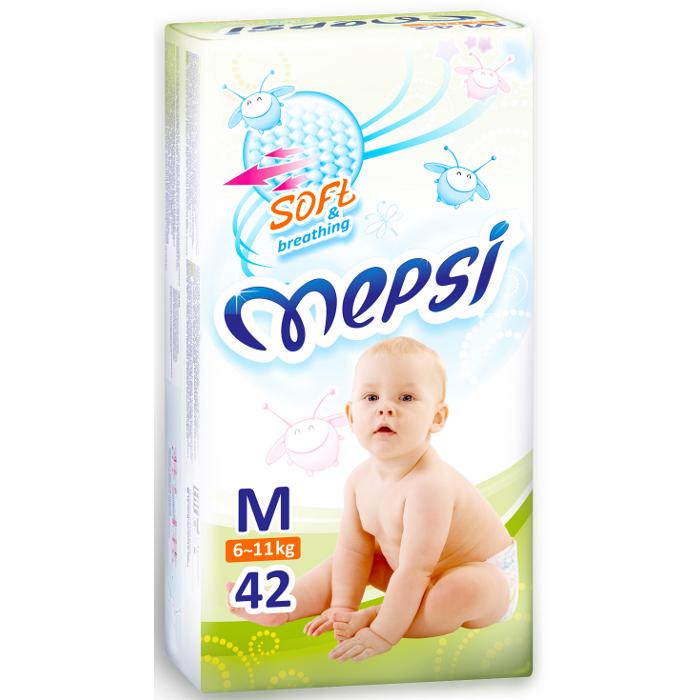 Подгузники Mepsi premium М (6-11кг), 42 шт