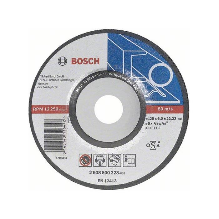 Обдирочный круг по металлу Bosch Expert 125х6мм вогнутый 2608600223