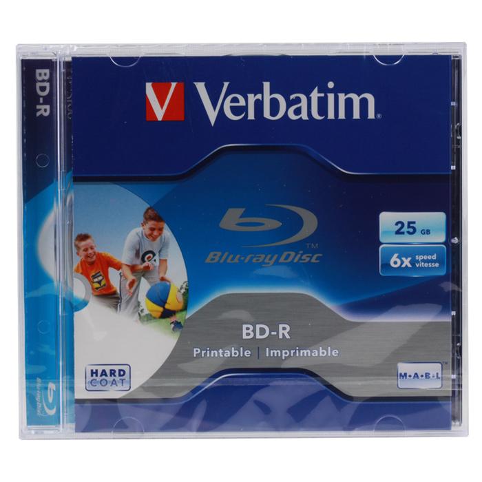 Оптический диск BD-R Verbatim 25Gb 6x Jewel Case Printable (43713) 1шт