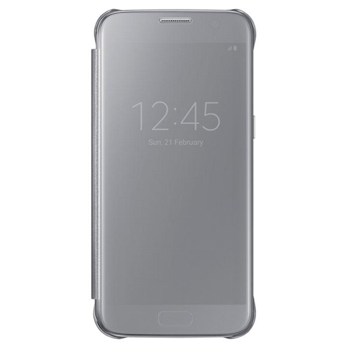 Чехол Samsung Clear View Cover для Samsung G930F Galaxy S7, серебристый