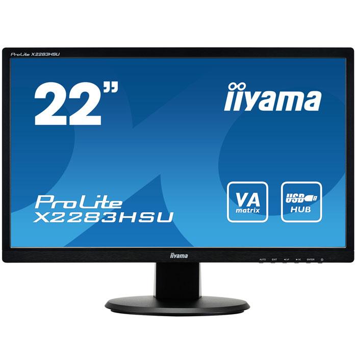 Монитор ЖК Iiyama ProLite X2283HSU-B1DP 22″ black VGA DVI DisplayPort