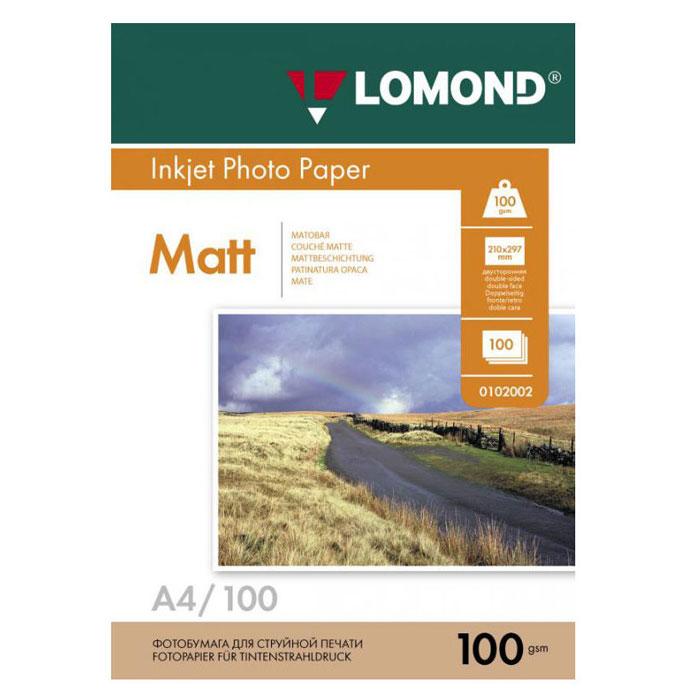 Фотобумага A4 Lomond 100гр, 100л белый матовое/матовое для струйной печати ( 0102002 )