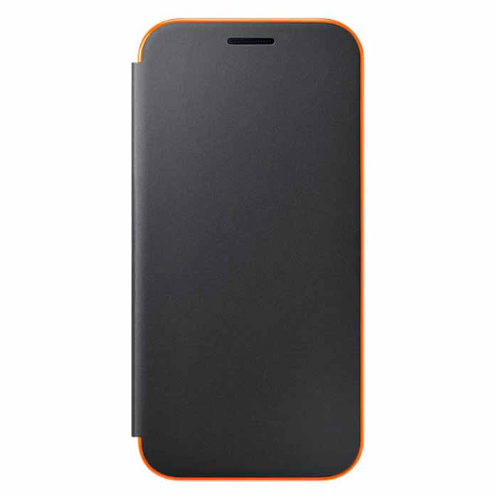 Чехол Samsung Neon Flip Cover для Galaxy A3 (2017) SM-A320F, черный