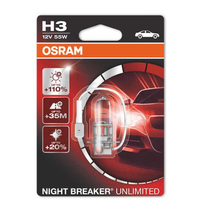 Лампа OSRAM H3 55W Nigth Breaker Unlimited 1 шт.