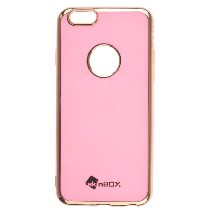Чехол SkinBox, Силиконовая накладка для iPhone 6 / iPhone 6s, пудра
