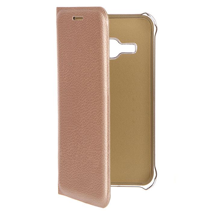 Чехол Acqua Wallet Extra для Samsung Galaxy J1 (2016) SM-J120F/DS, золотистый