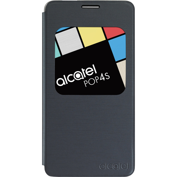 Чехол Alcatel Book-case для Alcatel One Touch 5095K Pop 4 Dual sim, серый