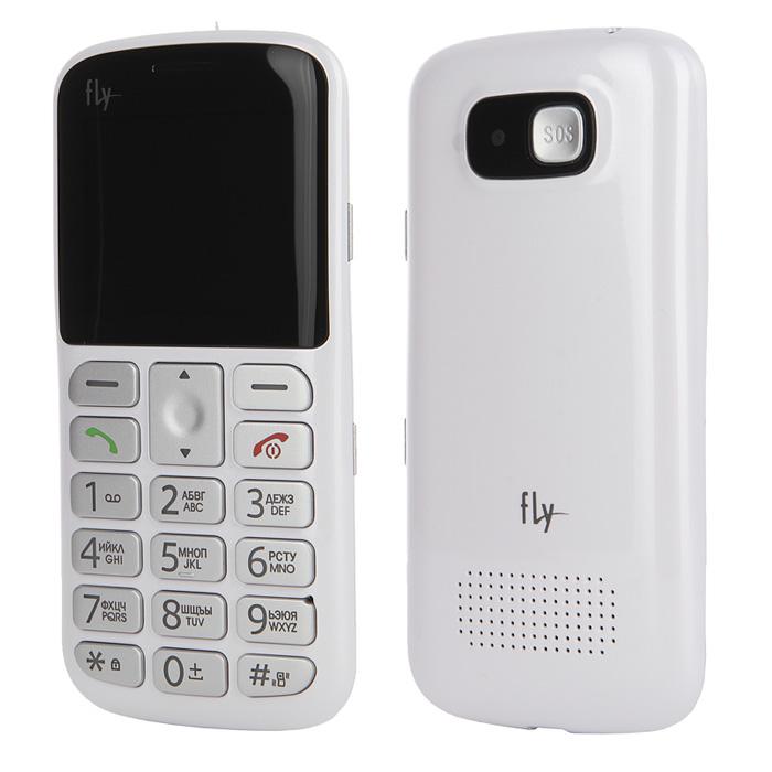 Сотовый телефон с большими кнопками Fly Ezzy 8 белый