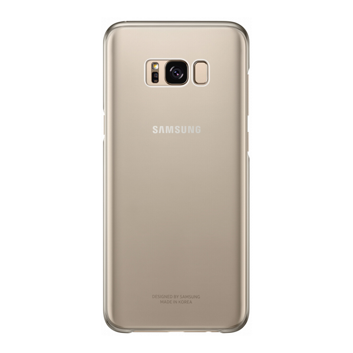 Чехол Samsung Alcantara Clear для Samsung Galaxy S8+ SM-G955, золотистый